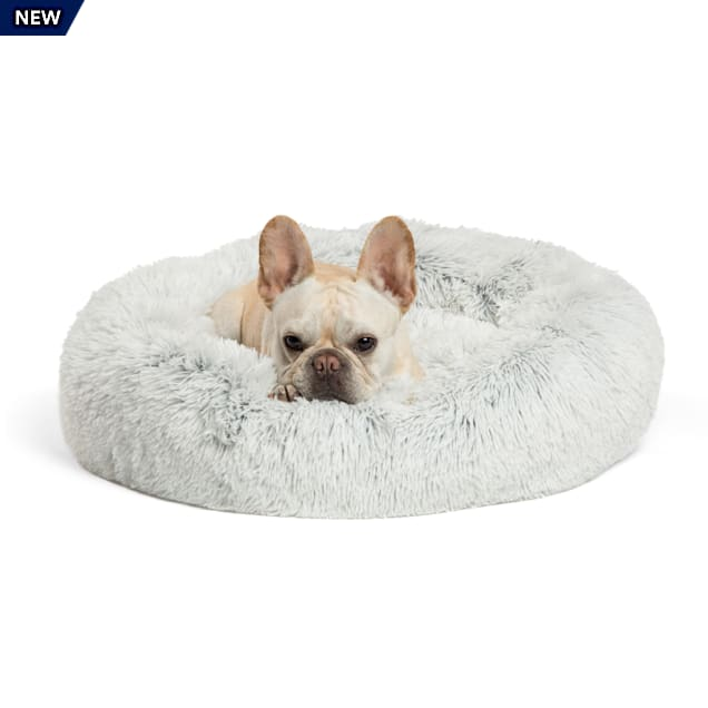 """Best Friends by Sheri The Original Calming Donut Frost Shag Cuddler Dog Bed, 23"""" L X 23"""" W X 9"""" H - Carousel image #1"""