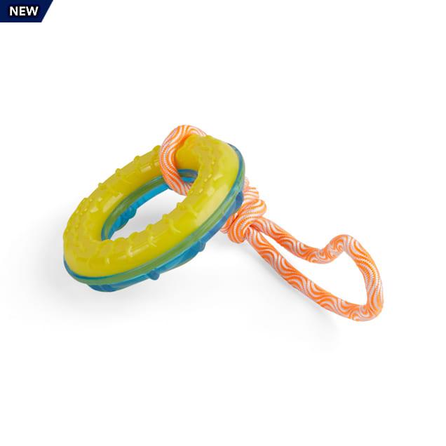 Leaps & Bounds Splash & Dash Floating & Freezeable Water Dog Tug Toy, Small - Carousel image #1
