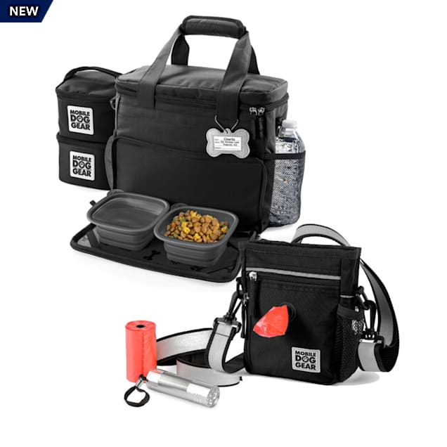 Mobile Dog Gear Bundle Black Day/Night Walking and Week Away Bag, Small - Carousel image #1