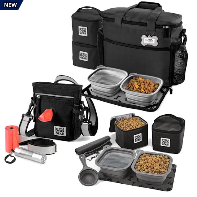 Mobile Dog Gear Black Bundle Day/Night Walking and Week Away Bag, Dine Away Set - Carousel image #1