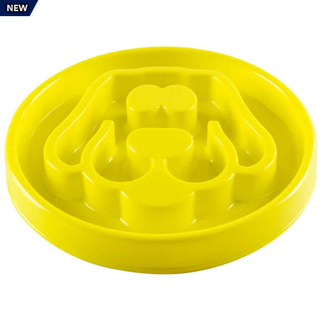 Be One Breed Yellow Slow Feeder for Dogs, Medium - Carousel image #1