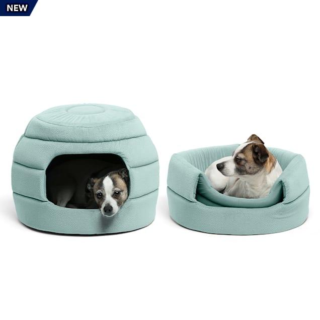 "Best Friends by Sheri Standard Tide Pool 2-in-1 Honeycomb Ilan Hut Cuddler for Dogs, 16"" L X 16"" W - Carousel image #1"