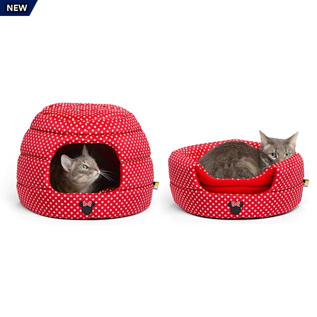 "Best Friends by Sheri Disney Standard Red 2-in-1 Honeycomb Minnie Polka Dots Cat and Dog Hut, 17"" L X 14"" W - Carousel image #1"