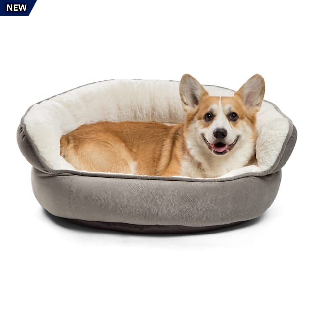 "Best Friends by Sheri Jumbo Grey Pet Throne Ilan Microfiber, 27"" L X 27"" W - Carousel image #1"