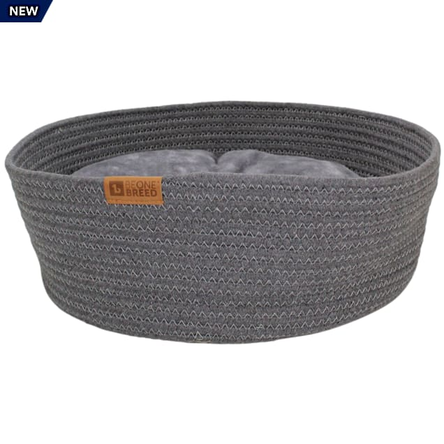 """Be One Breed Dark Gray Basket Cuddler Bed for Cats, 16.54"""" L X 16.54"""" W - Carousel image #1"""