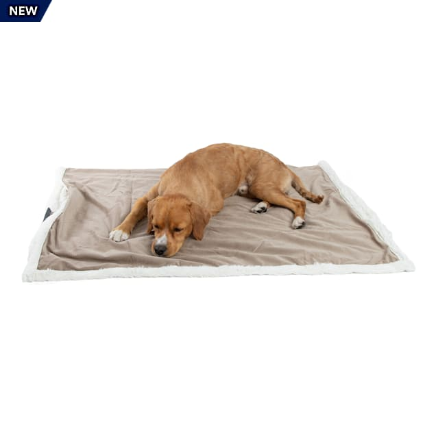 """Best Friends by Sheri Wheat Microfiber Faux Fur Ilan Blanket for Pets, 40"""" L X 50"""" W - Carousel image #1"""