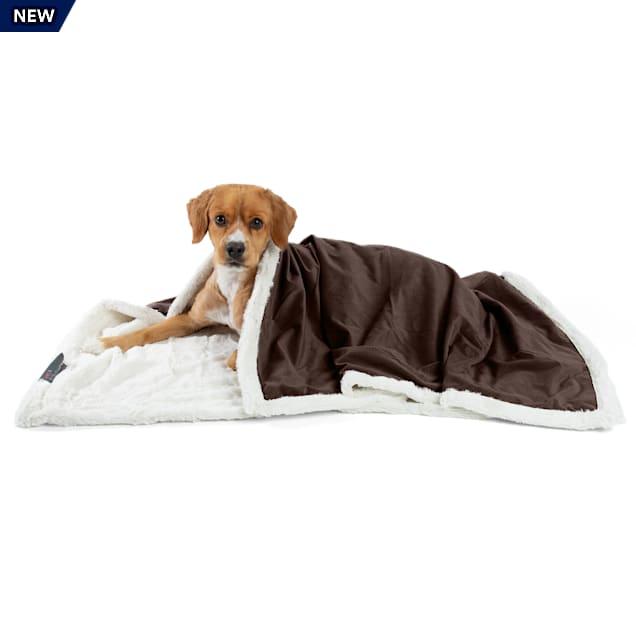 "Best Friends by Sheri Chocolate Microfiber Faux Fur Ilan Blanket for Pets, 40"" L X 50"" W - Carousel image #1"