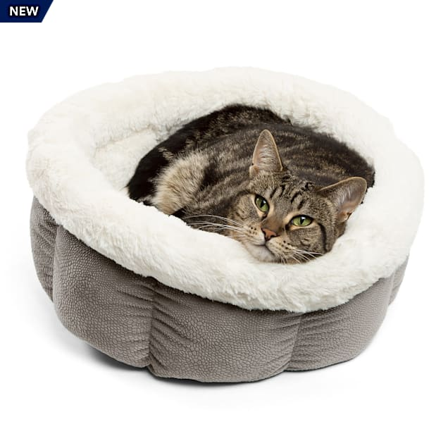 """Best Friends by Sheri Standard Grey Ilan Cuddle Cup for Dogs, 17"""" L X 17"""" W - Carousel image #1"""