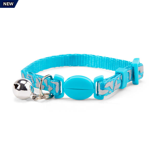 YOULY The Happy-Go-Lucky Blue Reflective Butterfly-Print Breakaway Kitten Collar - Carousel image #1