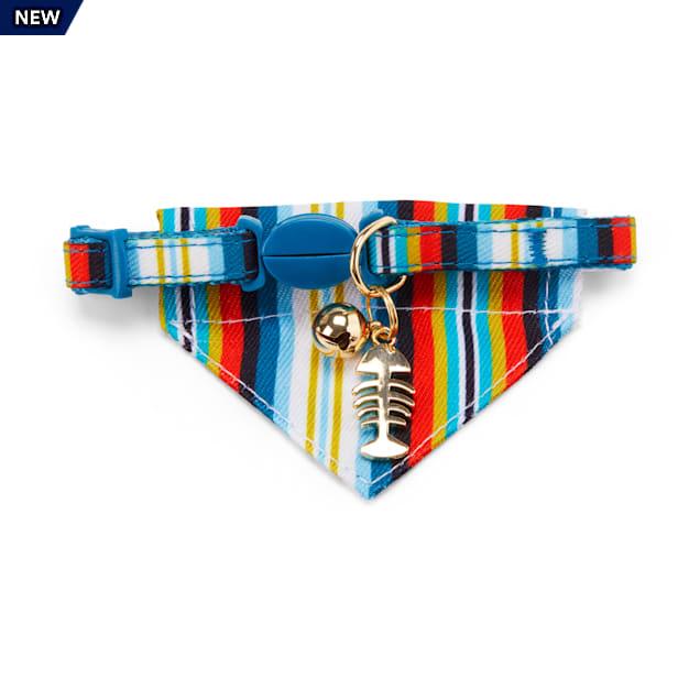 YOULY The Artisan Blue Striped Breakaway Kitten Collar - Carousel image #1
