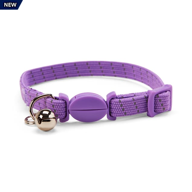 YOULY The Classic Purple Reflective Rope Breakaway Cat Collar - Carousel image #1