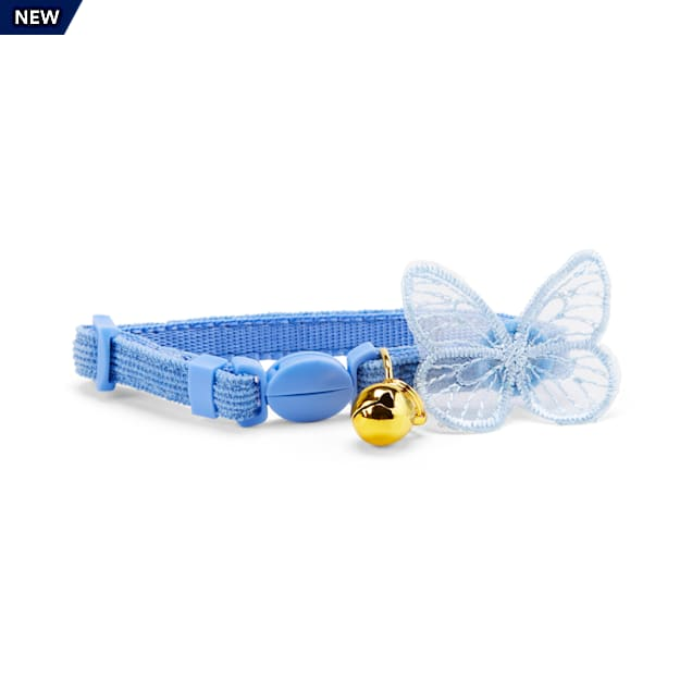 YOULY The Happy-Go-Lucky Blue Butterfly-Embellished Breakaway Kitten Collar - Carousel image #1