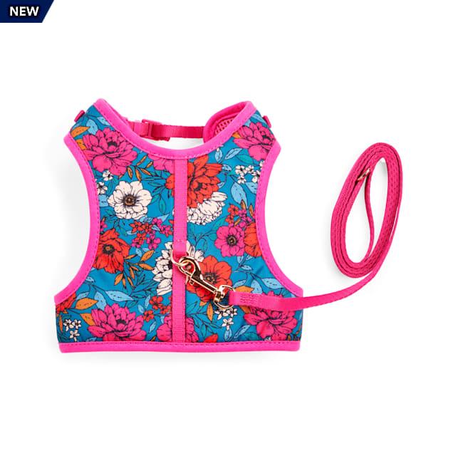 YOULY The Happy-Go-Lucky Pink Butterfly-Print Cat Harness & Leash Set - Carousel image #1