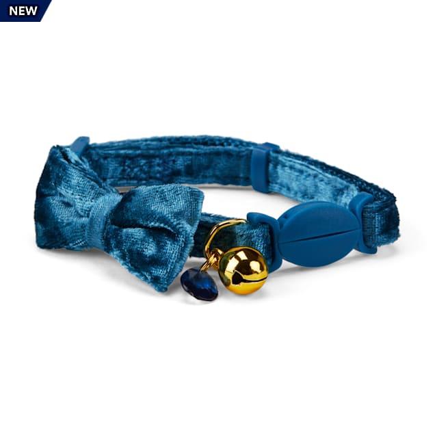 YOULY The Heir Teal Velvet Breakaway Cat Collar - Carousel image #1