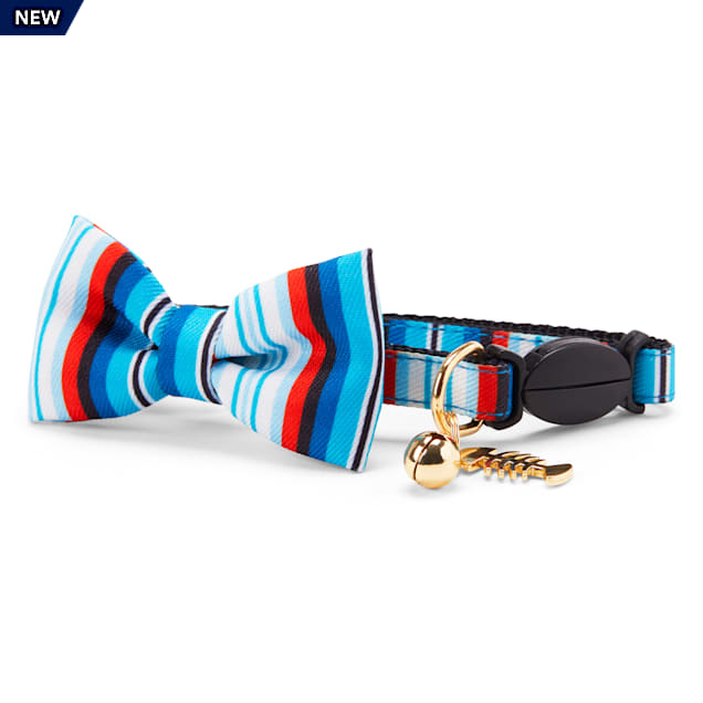 YOULY The Artisan Blue Striped Breakaway Cat Collar - Carousel image #1
