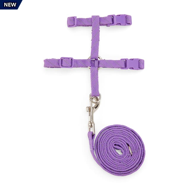 YOULY The Protector Lavender Reflective Kitten Harness & Leash Set - Carousel image #1