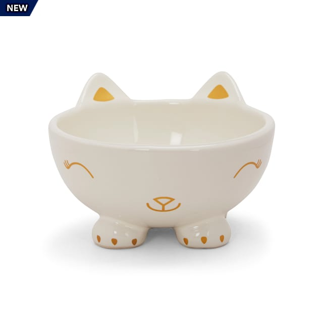 EveryYay Dining In Elevated Cat Face Cat Bowl, 1.2 Cups - Carousel image #1
