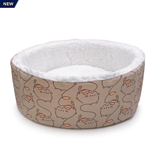 """Pusheen Cuddler Printed Cat Bed, 18"""" L X 18"""" W X 6.5"""" H - Carousel image #1"""