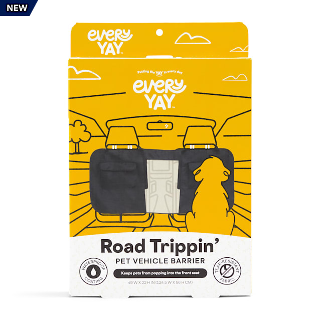 EveryYay Road Trippin' Black Pet Vehicle Barrier - Carousel image #1