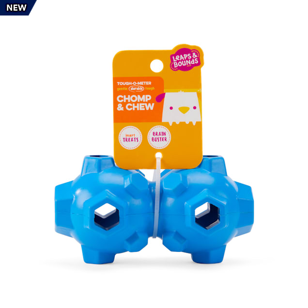 Leaps & Bounds Treat Dispenser Geometric Ball Dog Toy in Assorted Styles, Small - Carousel image #1