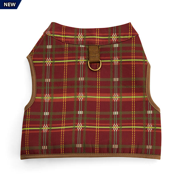 YOULY The Hipster Burgundy Plaid Dog Harness, XX-Small - Carousel image #1