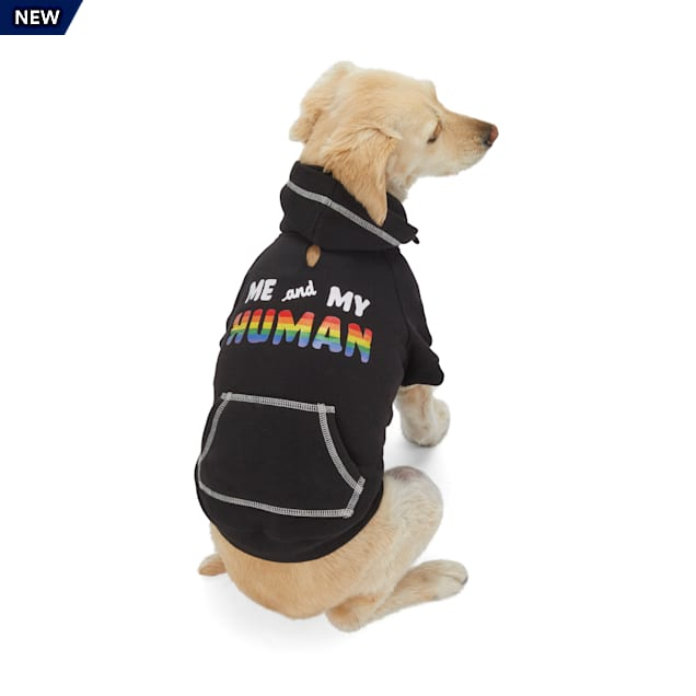 YOULY The Proudest Rainbow Me & My Human Dog Graphic Hoodie, XX-Small - Carousel image #1