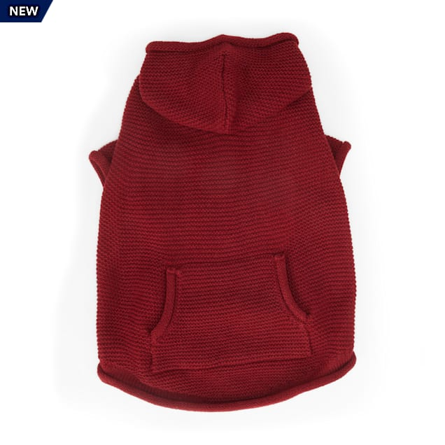YOULY The Classic Burgundy Dog Hoodie, XX-Small - Carousel image #1