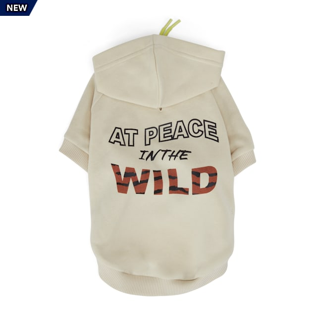 YOULY The Nature Lover Grey At Peace In The Wild Graphic Dog Hoodie, XX-Small - Carousel image #1