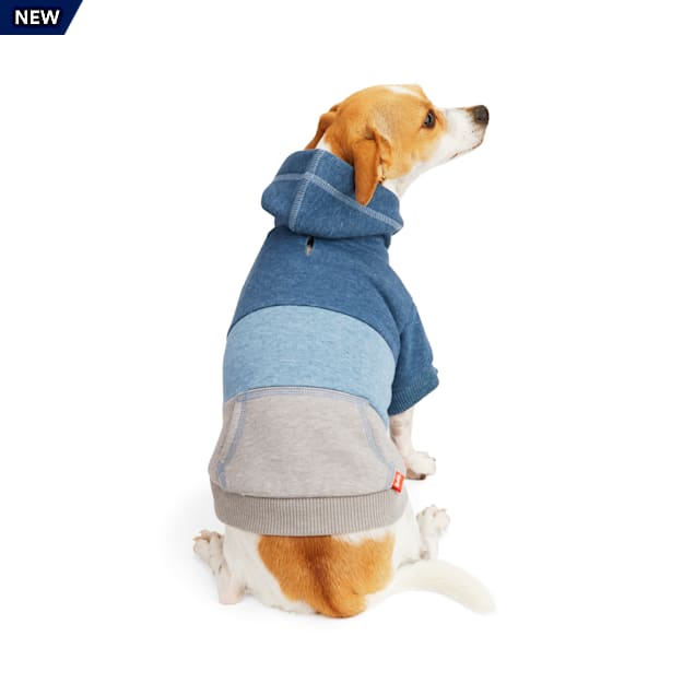 Reddy Blue/Gray Colorblocked Dog Hoodie, X-Small - Carousel image #1