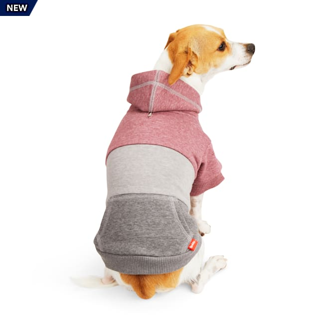 Reddy Burgundy Colorblocked Dog Hoodie, X-Small - Carousel image #1