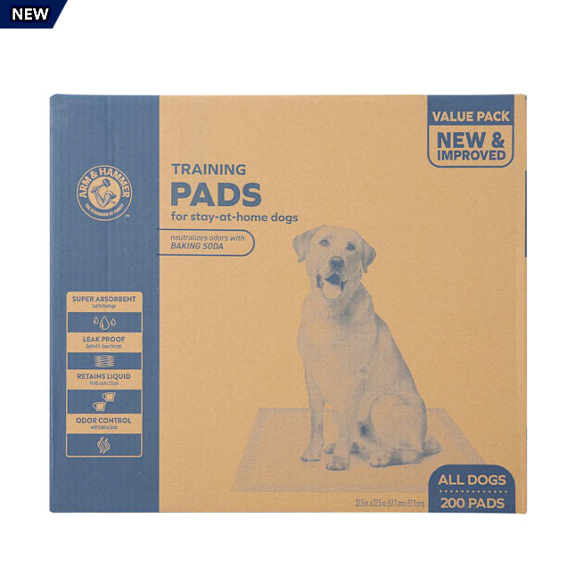Arm & Hammer Training Pads for Stay-at-Home Dogs, Super Absorbent Leak-Proof Odor Control Quilted Pads with Baking Soda, 200 ct. - Carousel image #1