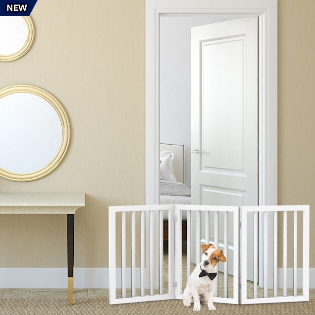 """Pet Pal White Freestanding 3 Panel Pet Gate, 54.7"""" L X 0.75"""" W X 23.7"""" H - Carousel image #1"""