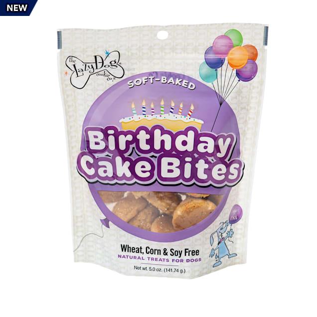 The Lazy Dog Cookie Co. Birthday Cake Bites Vanilla with Confetti Sprinkles Soft-Baked Dog Treats, 5 oz. - Carousel image #1