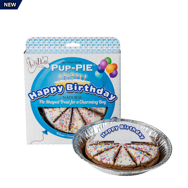 The Lazy Dog Cookie Co. The Original Pup-Pie Happy Birthday Pie Shaped Dog Treat for a Charming Boy, 5 oz. - Carousel image #1