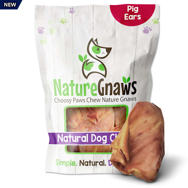 Nature Gnaws Pig Ears Natural Dog Chews, 16.9 oz., Count of 15 - Carousel image #1