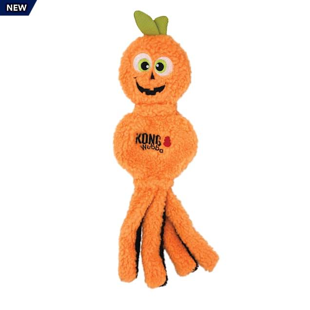 KONG Orange Halloween Wubba Flatz Pumpkin Dog Toy, Large - Carousel image #1