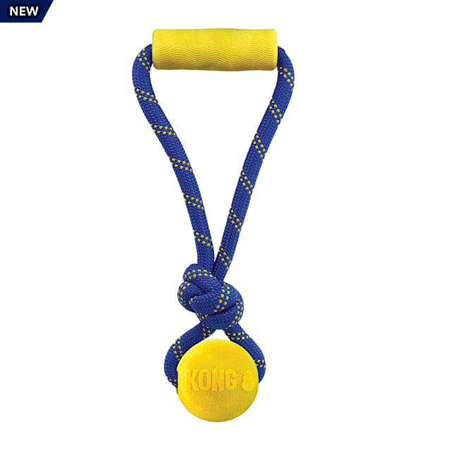 KONG Jaxx Brights Tug with Ball Assorted Dog Toy, Medium - Carousel image #1