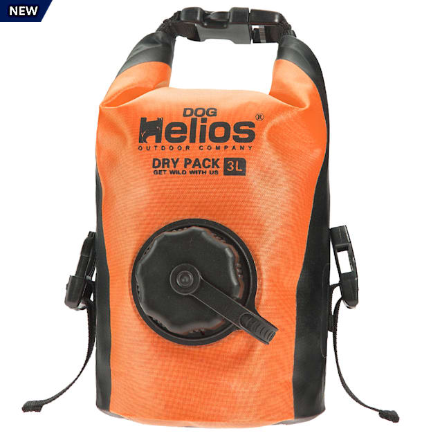 Dog Helios Orange 'Grazer' Waterproof Outdoor Travel Dry Food Dispenser Bag - Carousel image #1