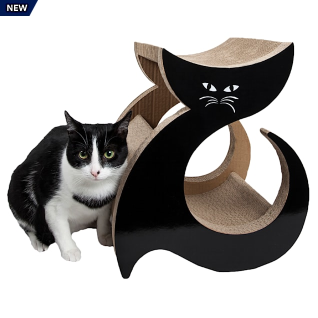 "Pet Life Purresque Ultra Premium Fashion Designer Lounger Cat Scratcher, 13.4"" L X 11.81"" W X 15.4"" H - Carousel image #1"