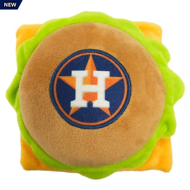 Pets First Houston Astros Hamburger Dog Toy, Medium - Carousel image #1