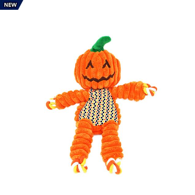 KONG Halloween Floppy Knots Pumpkin Dog Toy, Small - Carousel image #1