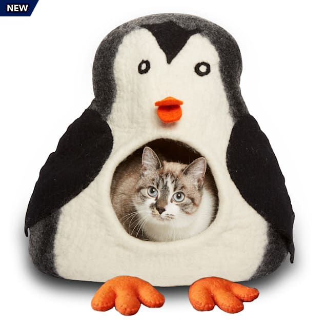 """Dharma Dog Karma Cat Ombre Penguin Wool Pet Cave, 14"""" L X 12"""" W X 14"""" H - Carousel image #1"""