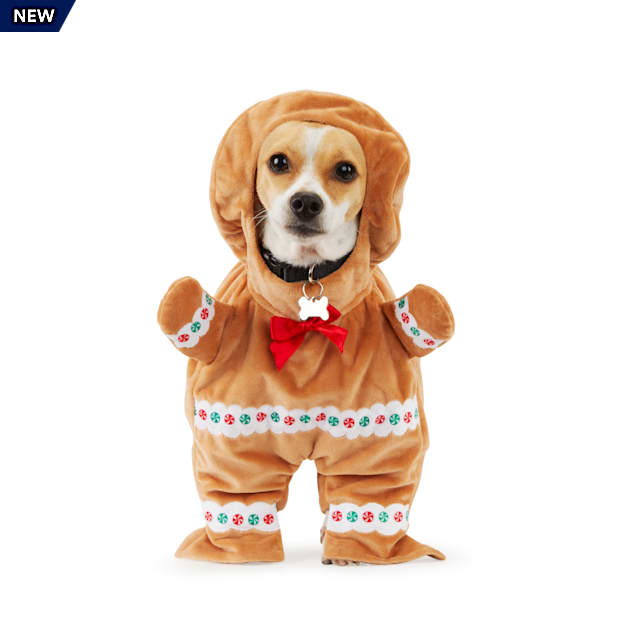 Merry Makings Oh, Ginger-SNAP! Gingerbread Man Illusion Pet Costume, XX-Small - Carousel image #1