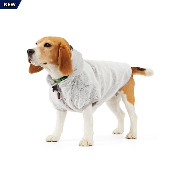 Merry Makings Warm Fuzzies Grey Faux-Fur Pet Jacket, X-Small - Carousel image #1