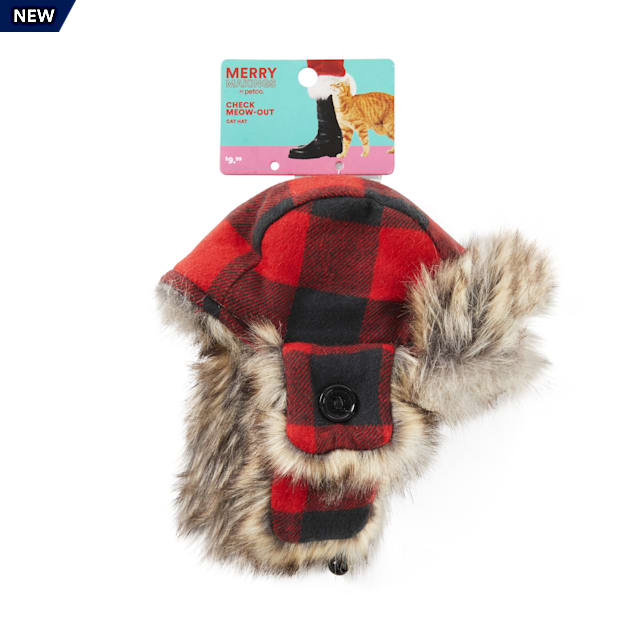 Merry Makings Check Me Out Buffalo Check Trapper Cat Hat - Carousel image #1