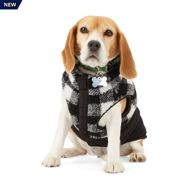 Merry Makings Check Me Out Black Buffalo Check Pet Vest, X-Small - Carousel image #1