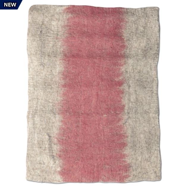 "Dharma Dog Karma Cat Rose Ombre Wool Pet Mat, 24"" L X 18"" W - Carousel image #1"