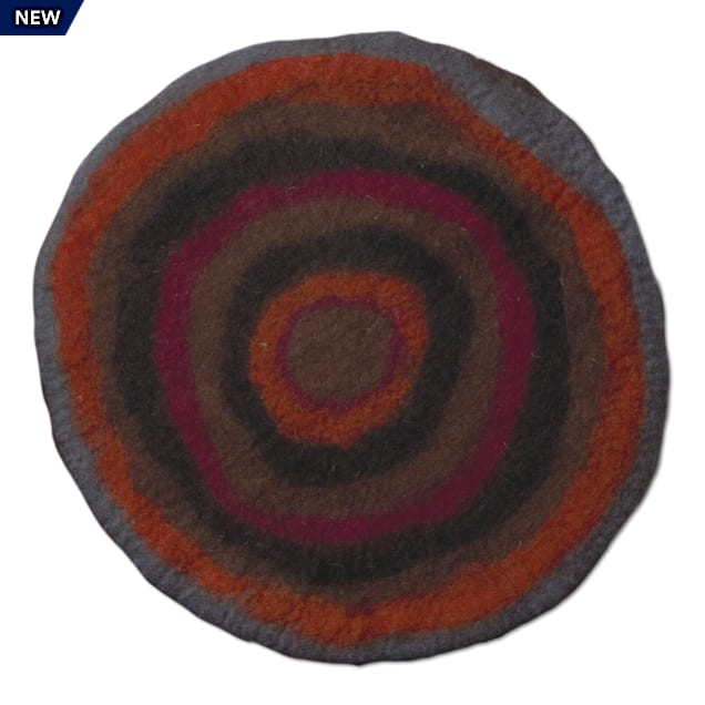 "Dharma Dog Karma Cat Red Agate Stone Wool Pet Mat, 18"" L X 18"" W - Carousel image #1"