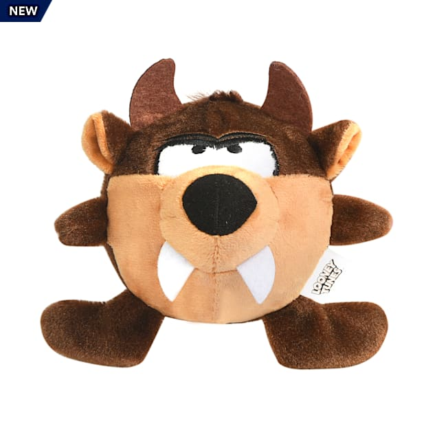 "Fetch for Pets Looney Tunes Tasmanian Devil ""Taz"" Ball Body Plush Dog Toy, Small - Carousel image #1"