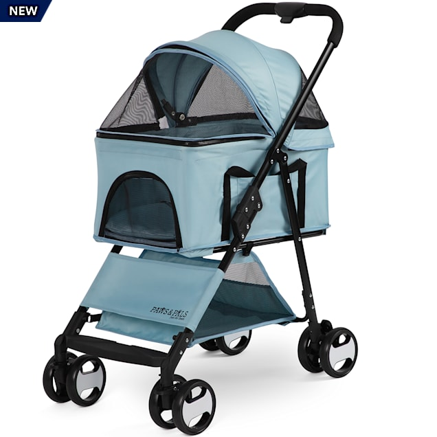 Paws & Pals Blue 2-in-1 Pet Stroller & Carrier - Carousel image #1